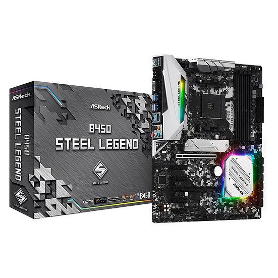 ASRock B450 Steel Legend AMD Socket AM4 ATX HDMI/DisplayPort M.2 DDR4 RGB USB