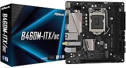 Asrock B460M-ITX/AC, Intel B460, 1200, Mini ITX, 2 DDR4, HDMI, DP, AC Wi-Fi, M.2