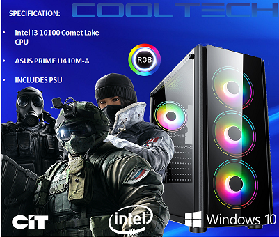 CTBB55 Intel i3 10100 Comet Lake - BAREBONES PC NO RAM NO SSD - PRE-BUILT SYSTEM