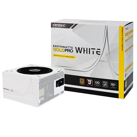Antec EarthWatts Gold Pro White 750W 120mm Silent Fan 80 PLUS Gold Semi Modular