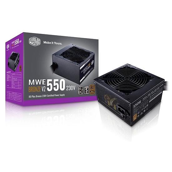 Cooler Master MWE 550W 230V V2 120mm HDB Fan 80 PLUS Bronze PSU