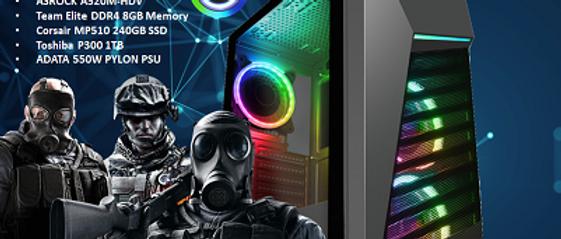 CTG101 AMD RYZEN 3 3200G with 8GB RAM + 240GB SSD + 1TB HHD - PRE-BUILT SYSTEM