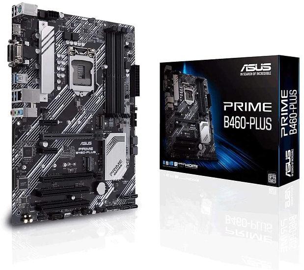 Asus PRIME B460-PLUS, Intel B460, 1200, ATX, 4 DDR4, XFire, VGA, DVI, HDMI, M.2