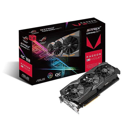 Asus Radeon ROG STRIX RX VEGA64, 8GB HBM2, DVI, 2 HDMI, 2 DP, 1590MHz