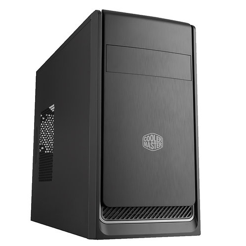 Cooler Master MasterBox E300L Micro Tower 2 x USB 3.0 Black Case with Silver Tri