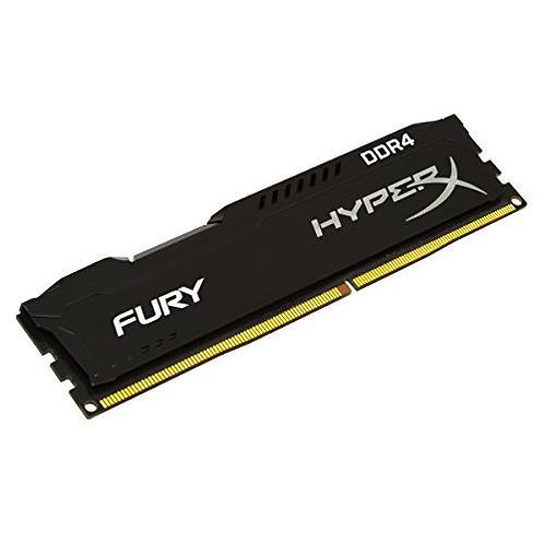 HyperX Fury Black 8GB, DDR4, 2400MHz (PC4-19200), CL15, 1.2V, XMP 2.0, DIMM Memo