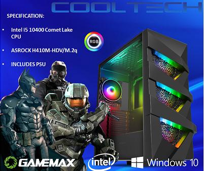CTBB37 Intel i5 10400 Comet Lake - BAREBONES PC NO RAM NO SSD - PRE-BUILT SYSTEM