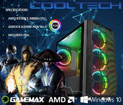 CTBB90 AMD RYZEN 5 3400G BAREBONES PC - NO MEMORY NO HARDDRIVE