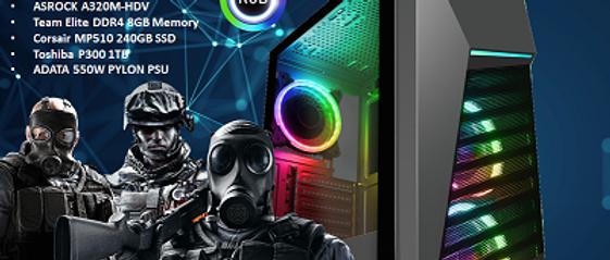 CTG102 AMD RYZEN 5 3400G with 8GB RAM + 240GB SSD + 1TB HHD - PRE-BUILT SYSTEM