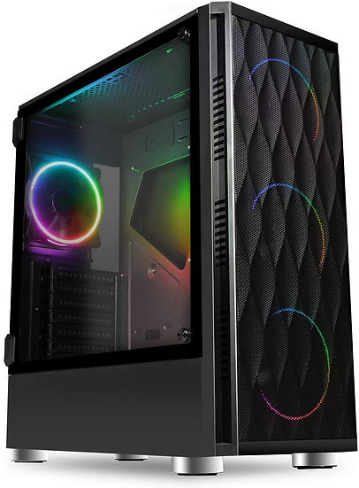 CiT C100 Mesh Midi Case With Front with Tempered Glass Side