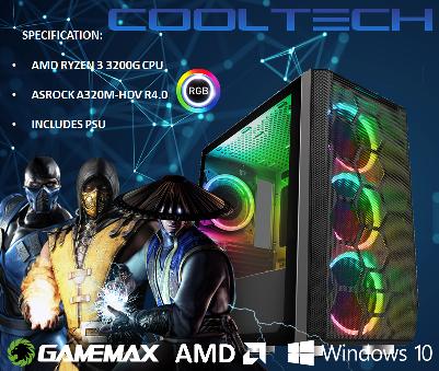 CTBB92 AMD RYZEN 3 3200G BAREBONES PC - NO MEMORY NO HARDDRIVE