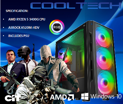 CTBB97 AMD RYZEN 5 3400G BAREBONES PC - NO MEMORY NO HARDDRIVE