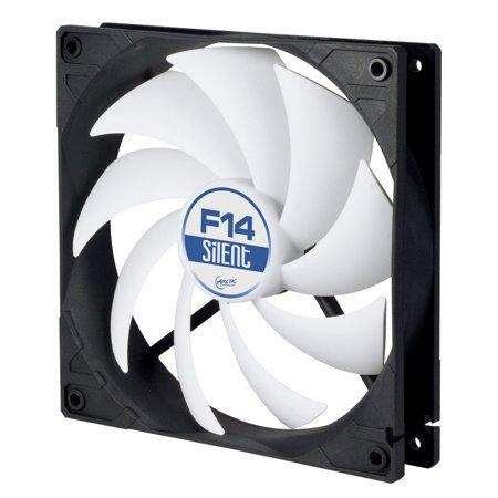 Arctic F14 Silent 14cm Case Fan, Black & White, 9 Blades, Fluid Dynamic