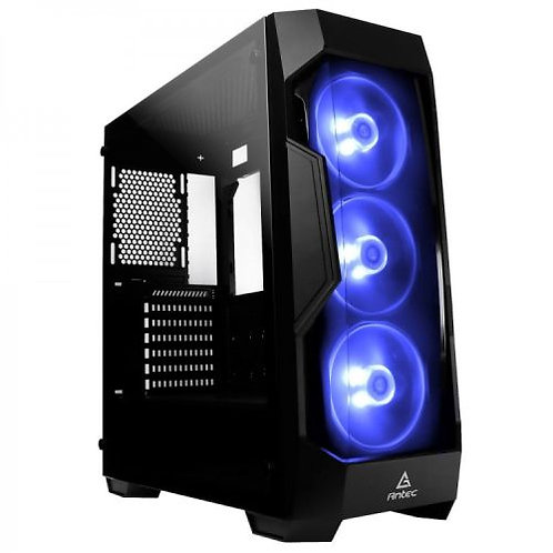 Antec DF-500 RGB Gaming Case with Front & Side Windows, ATX, No PSU, Tinted Temp
