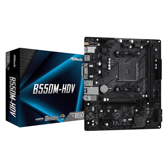 ASRock B550M-HDV AMD Socket AM4 Micro ATX HDMI/VGA/DVI-D M.2 USB 3.2 Gen1