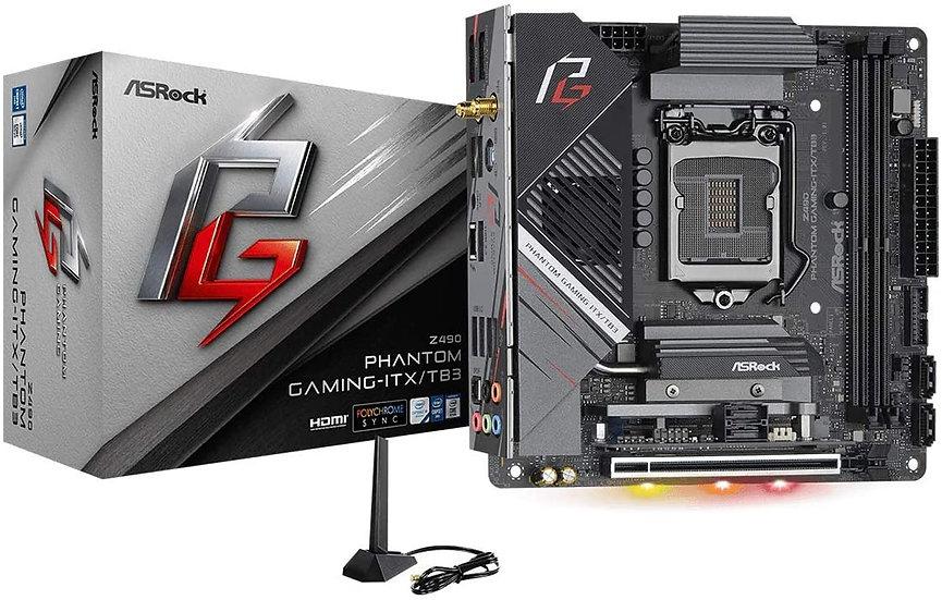 Asrock Z490 PHANTOM GAMING-ITX/TB3, Intel Z490, 1200, Mini ITX, 2 DDR4, HDMI, DP
