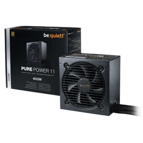 Be Quiet! 400W Pure Power 11 PSU, Fully Wired, Rifle Bearing Fan, 80+ Gold