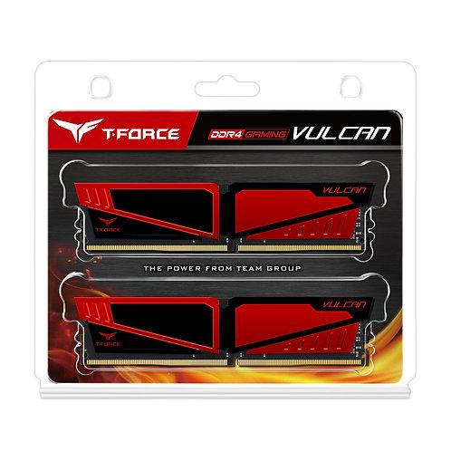 Team Vulcan 16GB Red Heatsink (2 x 8GB) DDR4 2400MHz DIMM System Memory