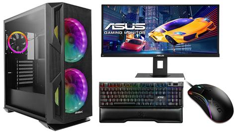 """AMD Ryzen 3600X with RTX2060 32GB DDR4 1TB M.2 RGB SSD Windows 10 27"""" Gaming Mon"""