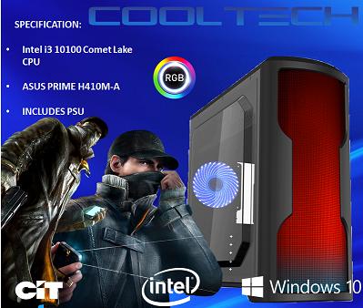 CTBB59 Intel i3 10100 Comet Lake - BAREBONES PC NO RAM NO SSD - PRE-BUILT SYSTEM