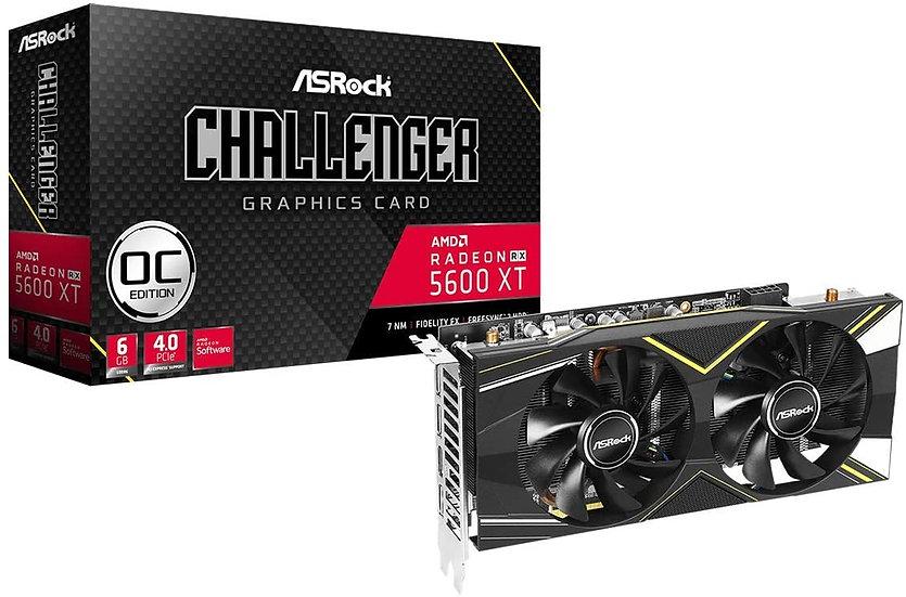 Asrock RX5600 XT Challenger D 6G OC, 6GB DDR6, PCIe4, HDMI, 3 DP, 1750MHz Clock