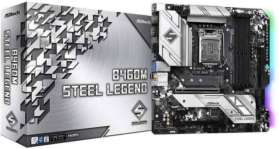 Asrock B460M STEEL LEGEND, Intel B460, 1200, Micro ATX, 4 DDR4, HDMI, DP, XFire,
