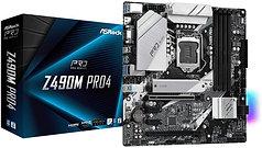 Asrock Z490M PRO4, Intel Z490, 1200, Micro ATX, 4 DDR4, XFire, VGA, HDMI, DP, M.