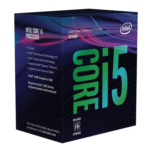 Intel Core i5-8600 CPU, 1151, 3.1 GHz (4.3 Turbo), 6-Core, 65W, 14nm, 9MB Cache,