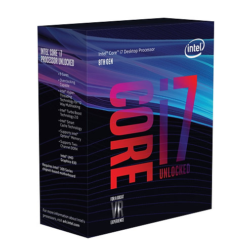 Intel i7 8700K Coffee Lake Six Core 3.7GHz 1151 Socket Overclockable Processor