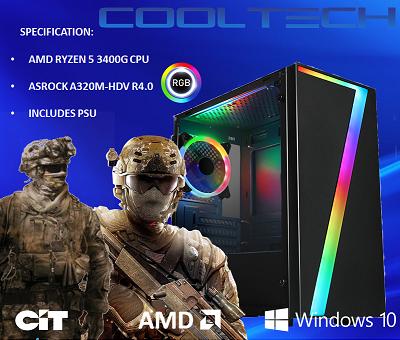 CTBB94 AMD RYZEN 5 3400G BAREBONES PC - NO MEMORY NO HARDDRIVE