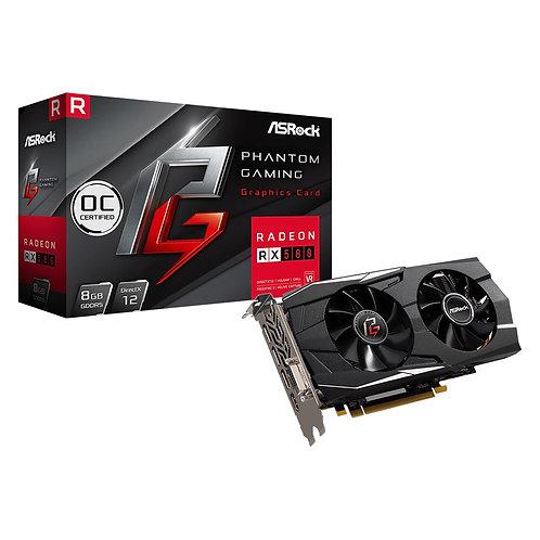 ASRock AMD Radeon RX580 8GB OC Phantom Gaming D Dual Fan Graphics Card