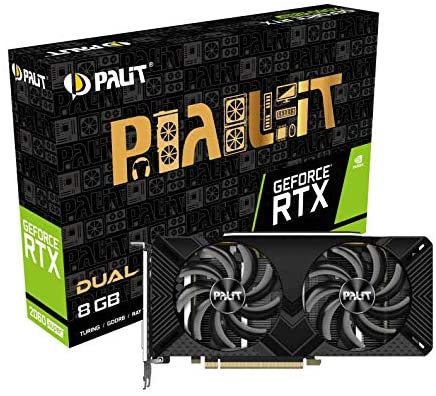 Palit RTX2060 SUPER DUAL, 8GB DDR6, DVI, HDMI, DP, 1650MHz Clock, LED lighting