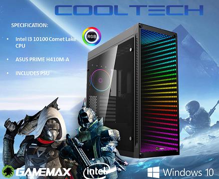 CTBB46 Intel i3 10100 Comet Lake - BAREBONES PC NO RAM NO SSD - PRE-BUILT SYSTEM