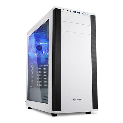 Sharkoon M25-W White Mid Tower Case (M-ITX/M-ATX/ATX)