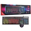 Marvo Scorpion KM409 7 Colour LED USB Gaming Keyboard & Mouse Set