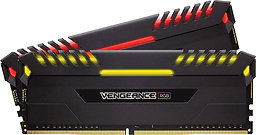 Corsair Vengeance RGB Pro 16GB Kit (2 x 8GB), DDR4, 2666MHz (PC4-21300), CL16, X