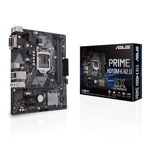 Asus PRIME H310M-K R2.0, Intel H310, 1151, Micro ATX, DDR4, VGA, DVI