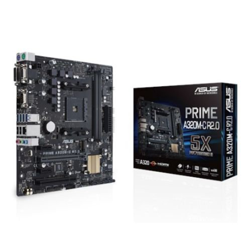 Asus PRIME A320M-C R2.0, AMD A320, AM4, Micro ATX, 2 DDR4, VGA, DVI, HDMI, M.2
