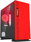 GameMax Expedition Red Gaming Matx PC Case Rear LED Fan & Full Side Window