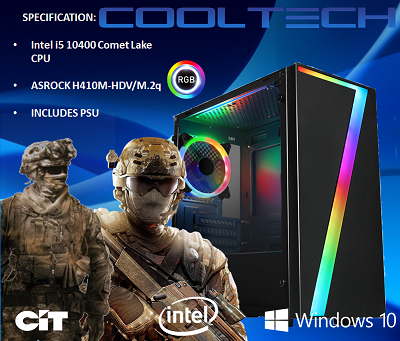 CTBB77 Intel i5 10400 Comet Lake - BAREBONES PC NO RAM NO SSD - PRE-BUILT SYSTEM