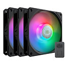 Cooler Master SickleFlow 120 ARGB Addressable RGB 3 Fan Pack with ARGB Controlle