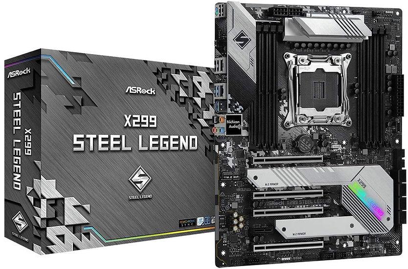 Asrock X299 STEEL LEGEND, Intel X299, 2066, ATX, 8 DDR4, SLI/XFire, Dual LAN,RGb