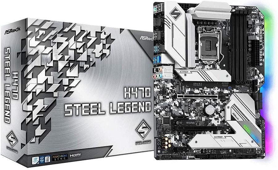Asrock H470 STEEL LEGEND, Intel H470, 1200, ATX, 4 DDR4, XFire, HDMI, DP, 2.5G L