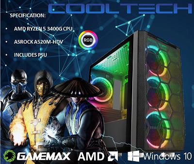 CTBB89 AMD RYZEN 5 3400G BAREBONES PC - NO MEMORY NO HARDDRIVE