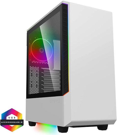 GameMax Panda White ARGB Gaming Case 3x ARGB Strips 1x ARGB fan 1x ARGB Hub