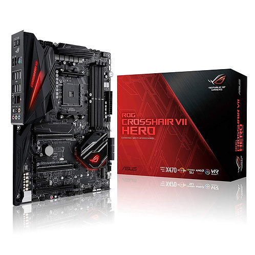 Asus ROG CROSSHAIR VII HERO, AMD X470, AM4, ATX, DDR4