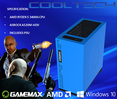 CTBB65 AMD RYZEN 5 3400G BAREBONES PC - NO RAM NO SSD - PRE-BUILT SYSTEM
