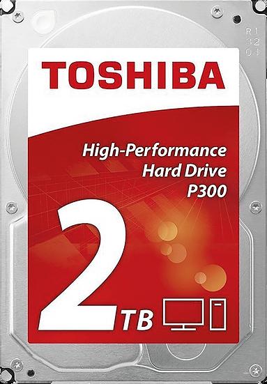 "Toshiba P300 HDWD120UZSVA 2TB 3.5"" 7200RPM 64MB Cache SATA III Internal HDD"