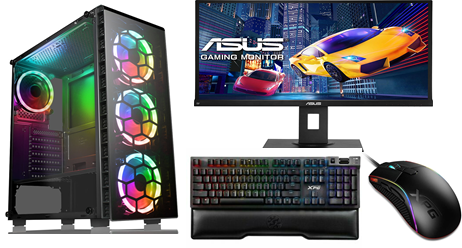 "Intel i5 10600k Gaming PC with 480G M.2 SSD 16GB DDR4 RTX2060 6GB Windows 10 27"""
