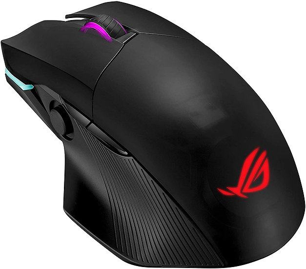 Asus ROG Chakram Gaming Mouse with Qi Charging, Wired/Wireless/Bluetooth